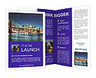 Bridge At Night Brochure Templates