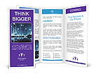 City Blue Light Brochure Templates