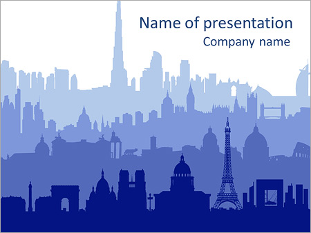 Picture Of Paris Powerpoint Template Backgrounds Id 0000004946