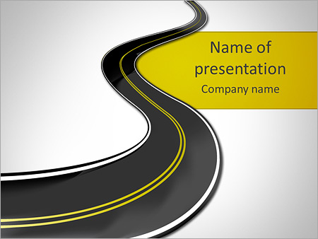 road powerpoint template & backgrounds id 0000004947, Modern powerpoint