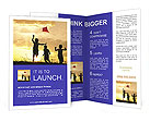 Children Play With Kite Brochure Templates