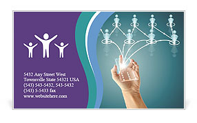 Manage People Business Card Templates