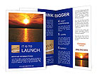 Sunset At Sea Brochure Templates