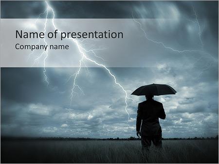 man under rain powerpoint template backgrounds google slides id