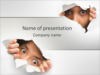 People Spying PowerPoint Template