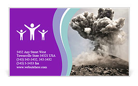 Vulcan Explosion Business Card Template