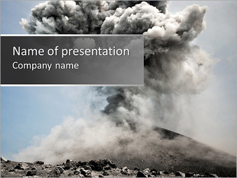 Vulcan Explosion PowerPoint Template