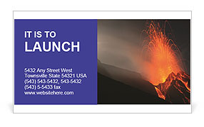 Volcanic rock Business Card Template