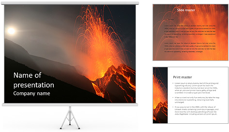 volcano powerpoint template. volcano lava powerpoint template with, Powerpoint