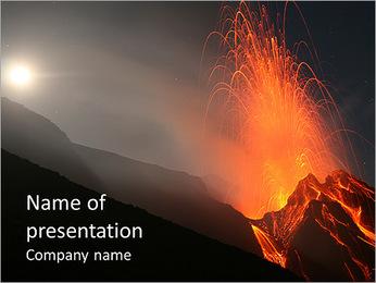 Volcanic rock PowerPoint Template
