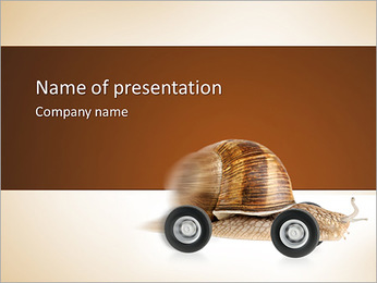 Car lente Modèles des présentations  PowerPoint