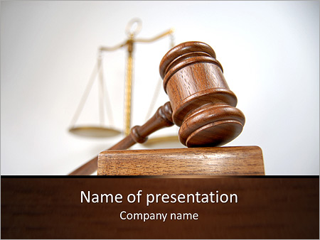 Courtroom detail with a gavel and scales of justice in the courtroom detail with a gavel and scales of justice in the background powerpoint template toneelgroepblik Images