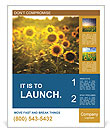 Sunflowers In The Orchard Poster Template