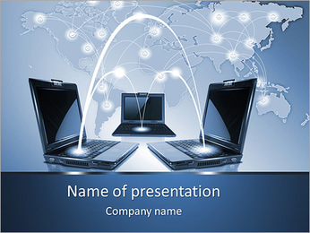Connection Between Computers PowerPoint Template