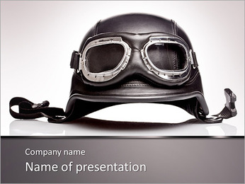 Pilot Of Plane PowerPoint Template