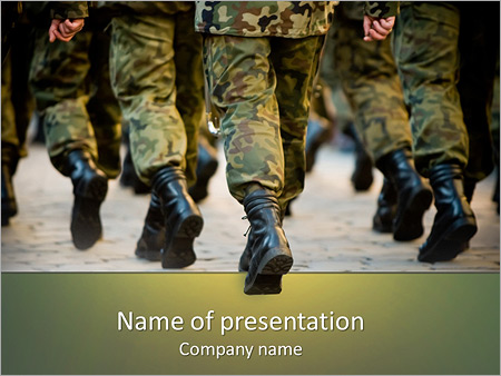 army soldiers powerpoint template & backgrounds id 0000004993, Modern powerpoint