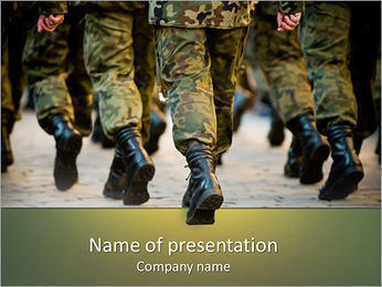 Army Soldiers PowerPoint Template