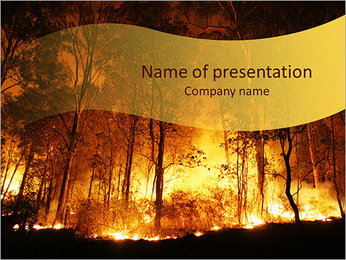 Forest In Fire PowerPoint Template