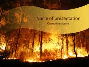Forest In Fire PowerPoint Templates
