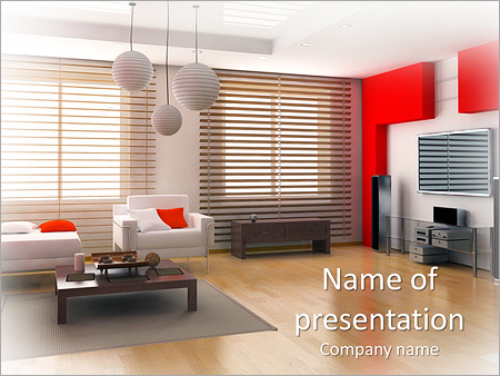 Modern Interior Design PowerPoint Template Backgrounds ID