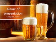 Two Glasses Of Beer PowerPoint Templates