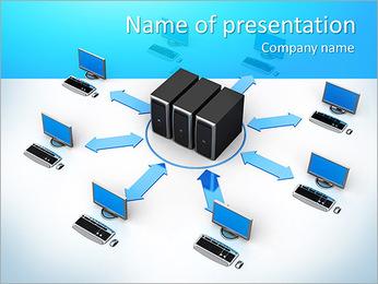 Computer Net PowerPoint Template