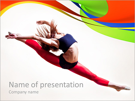 Gymnastic powerpoint template backgrounds google slides id gymnastic powerpoint template toneelgroepblik Images