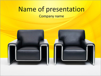Leathery Armchairs PowerPoint Template