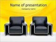 Leathery Armchairs PowerPoint Templates