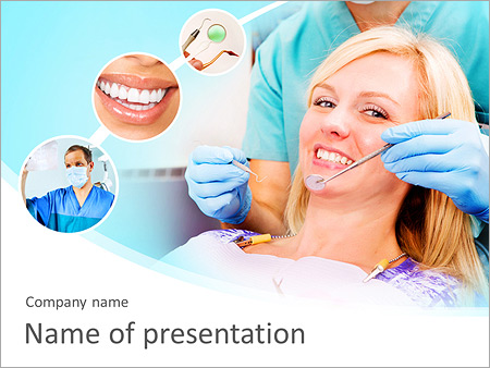 Woman At Dentist Powerpoint Template Backgrounds Google Slides