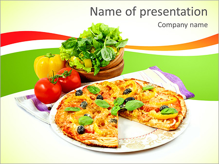Pizza Powerpoint Template Backgrounds Id 0000005033