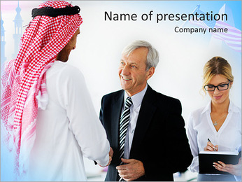 Business With Muslim Partners PowerPoint Template