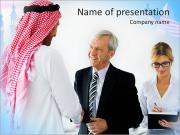 Business With Muslim Partners PowerPoint Templates