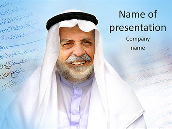 Muslim Man PowerPoint Template