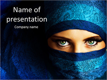 Woman In Paranja PowerPoint Template