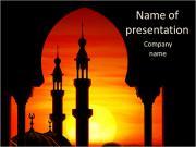 Moskee Sjablonen PowerPoint presentaties