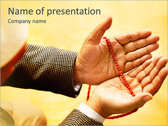 Prey With Rosary PowerPoint Template