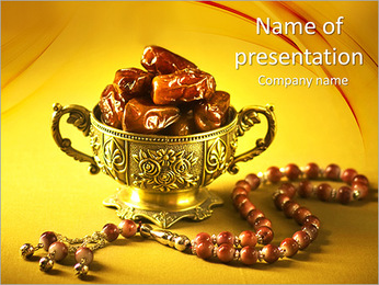 Dates And Beads PowerPoint Template