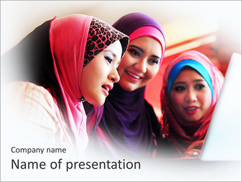 Muslim Young Ladies PowerPoint Template