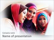 Muslim Young Ladies PowerPoint Templates