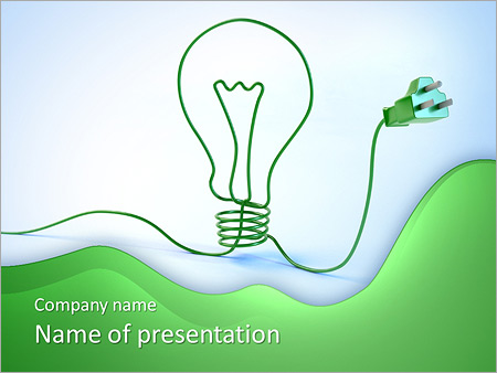 Electricity powerpoint template smiletemplates green electricity powerpoint template toneelgroepblik Gallery