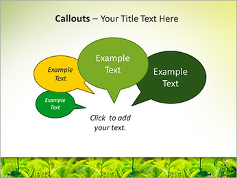 Plantes en plein soleil Modèles des présentations  PowerPoint - Diapositives 53