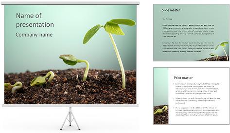 Plante dans le sol Modèles des présentations  PowerPoint