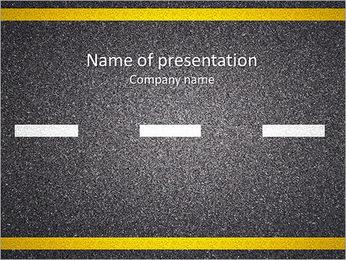 Carretera de asfalto Plantillas de Presentaciones PowerPoint
