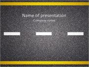 アスファルトの道 PowerPointプレゼンテーションのテンプレート
