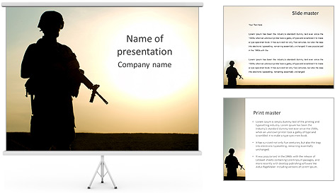 army themed powerpoint template image collections - powerpoint, Modern powerpoint