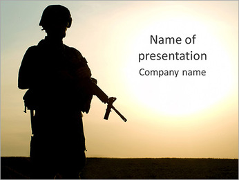 Military Man PowerPoint Template