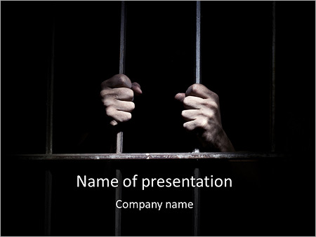 Man In Prison Powerpoint Template Backgrounds Google Slides Id
