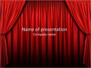 Stage With Red Curtains PowerPoint Templates