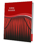 Stage With Red Curtains Presentation Folder